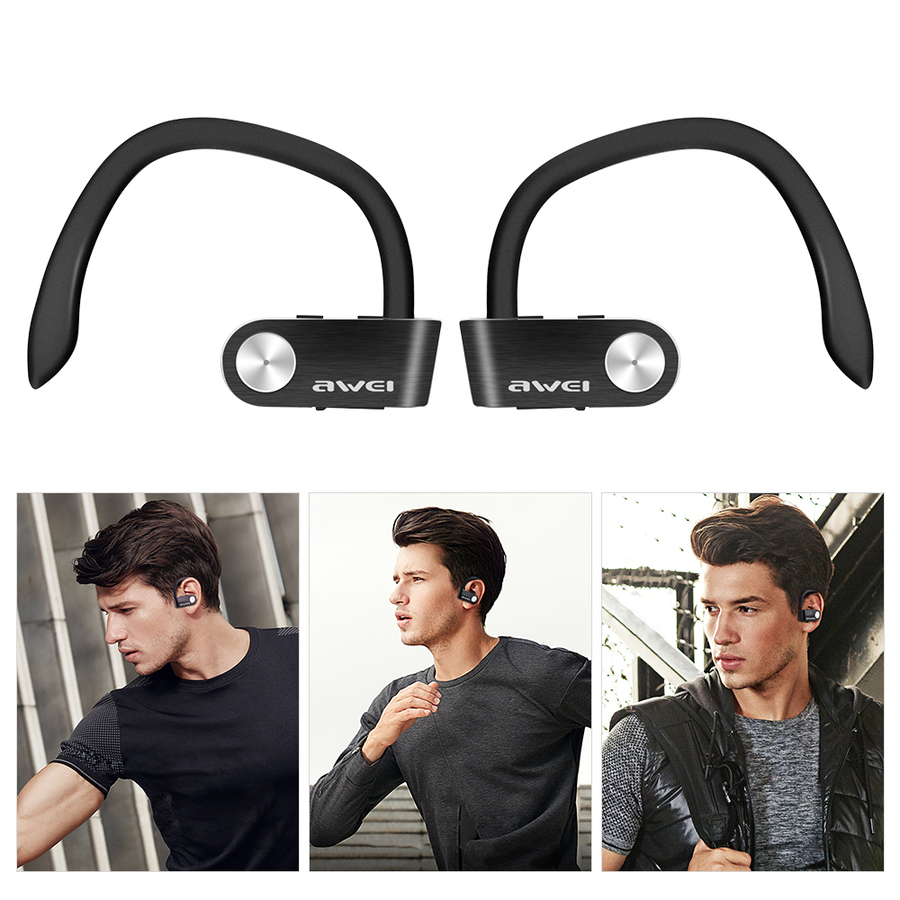 Awei T2 Wireless Earphone Sweat-proof TWS True Wireless Earbuds Bluetooth 4.2 Sports Headphones On-ear Control Headset With Mic new arrival awei a840bl wireless sports bluetooth 4 sweat proof for iphone android mp3 mp4 ipad ipod with microphone
