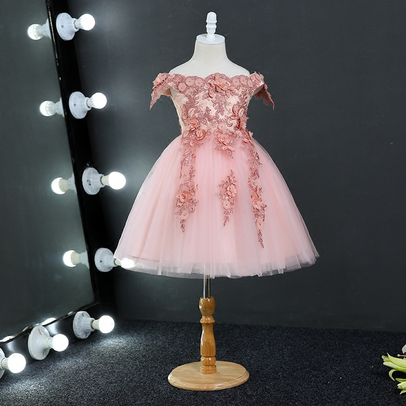 Kids Dresses For Girls 2017 Cute Toddler Kids Baby Girls Lace Party Dresses Children Clothes One Pieces 3-15y Summer Dress HS127 lovely toddler kids baby girl summer dress bunny ear short sleeve hooded outfit one pieces princess children dresses sundress