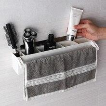 Bathroom Hanging Rack Storage Organizer Accessories for Blow Dryer Curl Iron, Hair Straightener, Brushes Stand Hair Dryer Holder