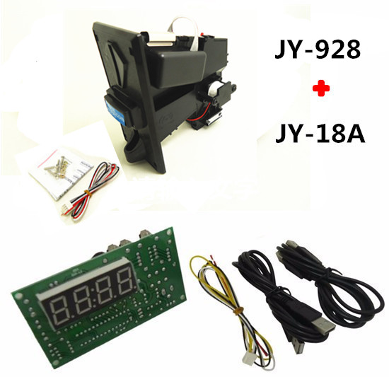 928 multi coin selector for 8 kinds of coins with 18A USB timer board, control , keyboard, mouse, any USB devices