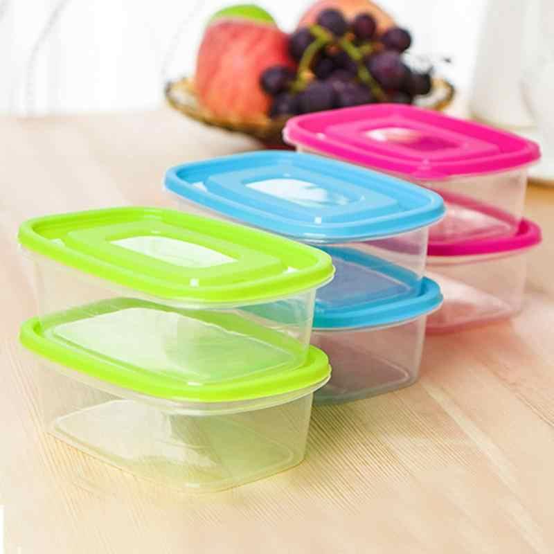 New 650 ml Recipiente de Alimento Plástico Mais Nítidas Geladeira Vegetal Fruta Preservação Caixa de Armazenamento