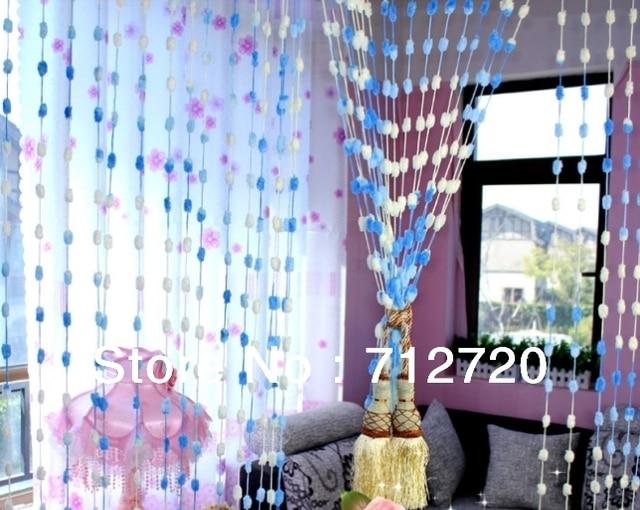 100 Cm 200 Cm Schone Pompon Ball Vorhang Perlgardine Raumteiler