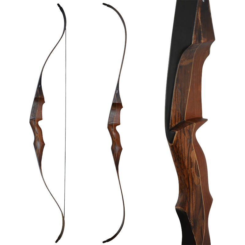 Superb Carman archery takedown wood bow with self arrow rest hunting bow outdoor shooting sports 30-55lbs wholesale archery equipment hunting carbon arrow 31 400 spine for takedown bow targeting 50pcs