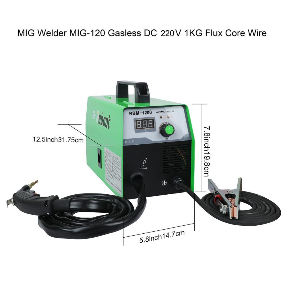 Neustart Mig Schweißer MIG ARC TIG 220V Edelstahl Eisen Schweißen Maschine MT2000 Mini Funktionale MIG 3 in 1 gas Gaslose MAG