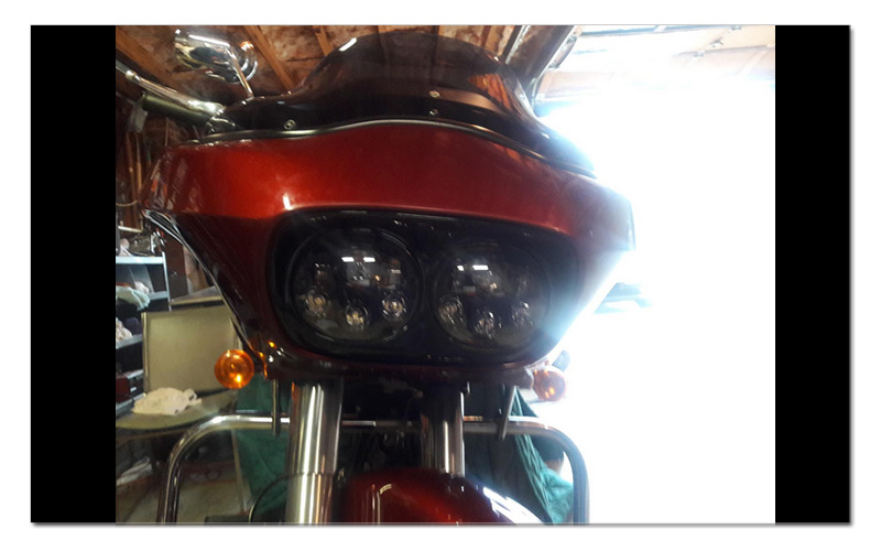 5.75 inch LED Motorcycle Headlight 5-34 Daymaker Projector Dual LED Headlight for Harley Davidson Road Glide 2004-2013 (13)