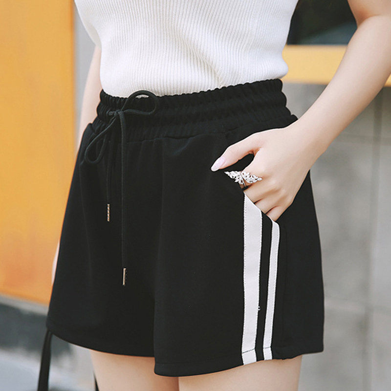 Summer   Shorts   for Women 2017 Plus Size 4XL 5XL Sexy Ladies   Shorts   Woman Elastic Waist Casual Women   Short   Pants tenis feminino