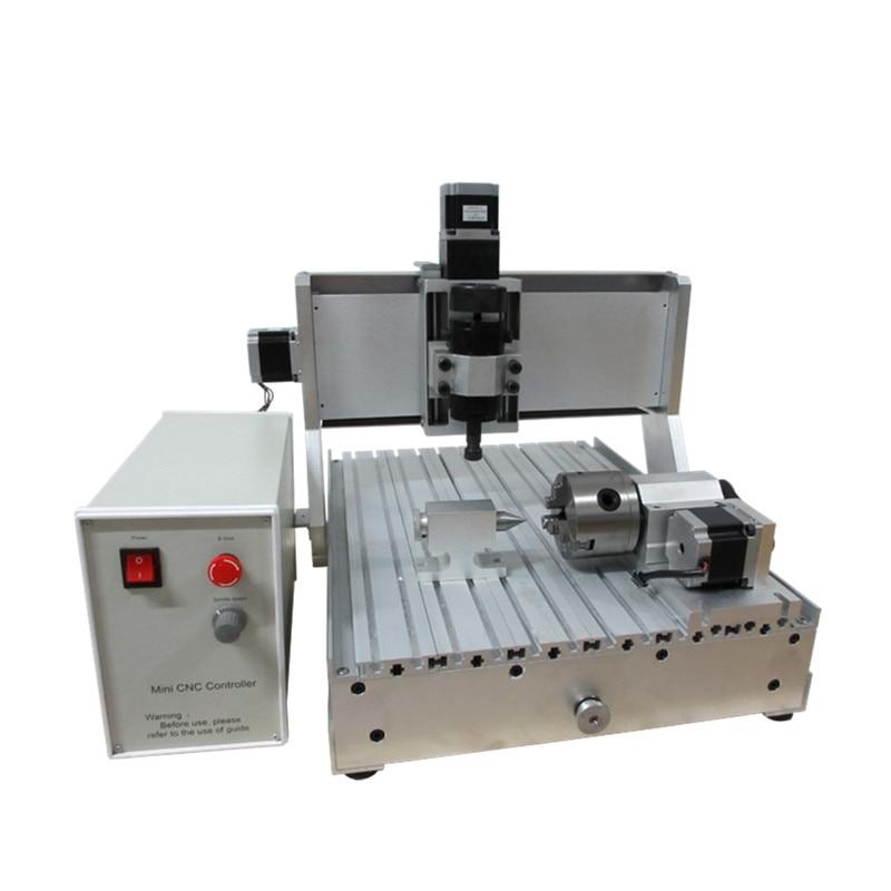 Mini LY 3040Z-D 500 W 3 axes 4th axe port usb CNC routeur vis à billes bois PCB fraisage et perçage gravure coupe