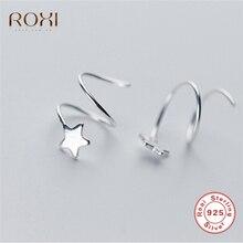 f7977e639d6c ROXI Real 925 pendientes de plata de ley para mujeres Star Twist espiral  pendientes geométricos pendientes joyería boucle d orei.