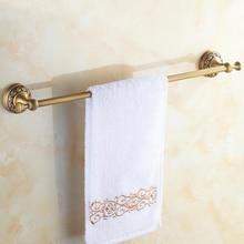цена на Antique Brass Bathroom towel holder Single towel bar towel rack brass towel rack Bathroom accessories ZD927
