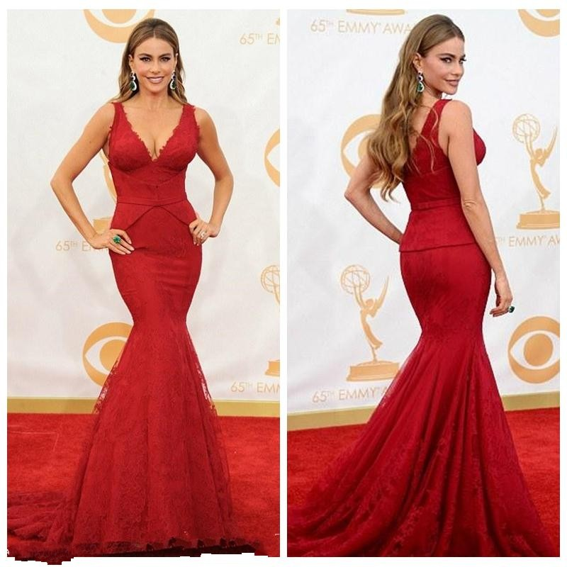 2016 Formal Evening Gowns Emmy Awards Backless Cheap Prom Dresses ...