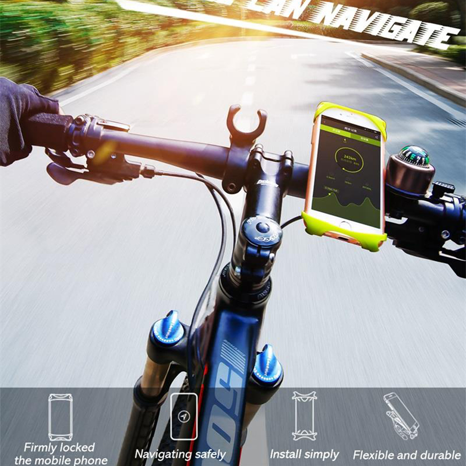 <font><b>Bike</b></font> <font><b>Phone</b></font> <font><b>Holder</b></font> For Smart Mobile Cell <font><b>Phone</b></font> <font><b>Holder</b></font> <font><b>Bike</b></font> Handlebar Mount Bracket GPS Stand image