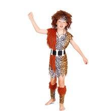 Ropa de Halloween cosplay maquillaje baile salvaje Africano Nativo Americano Indio trajes modelos de chico de los niños indígenas(China (Mainland))