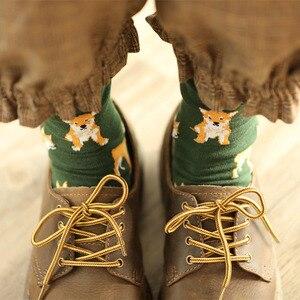 Женские Короткие хлопковые носки Shiba Inu, милые короткие хлопковые носки для собак и собак