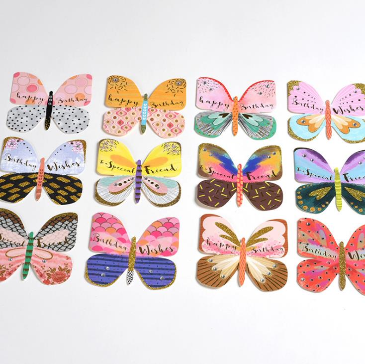 12*13cm colour Butterfly Party Cards Table Mark Wine Glass Name Place Card Birthday Wedding Party Decorations Party Gift image