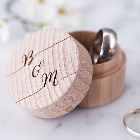 personalised calligraphy proposal couples ring bearer boxes wooden