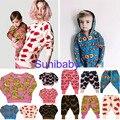 2016 bobo choses hugolovestiki Família Combinando Roupas de bebê meninas meninos harem pants crianças camisola calças sweatershirt