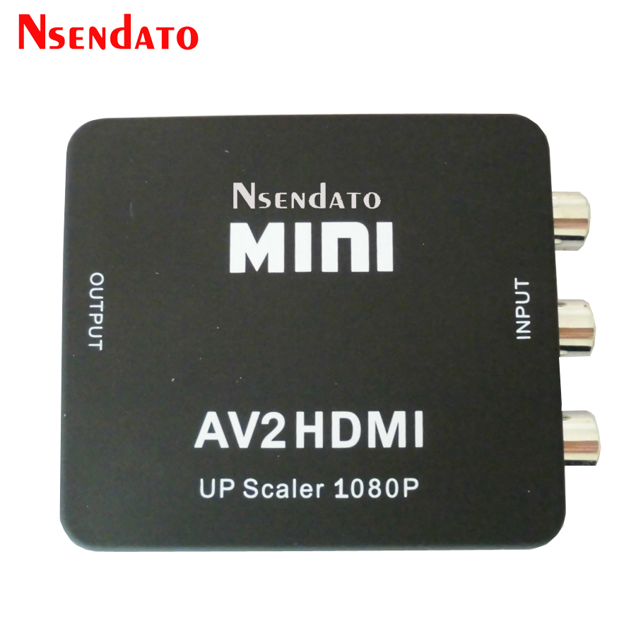 Mini RCA To HDMI Composite Audio Video AV CVBS Adapter Converter AV2HDMI RCA To HDMI CVBS L R HD Video Box ...