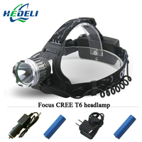High Power Cree Xm L T6 Headlamp Headlight Led Lanterne Cycling Frontal Head Torch 3000 Lumens
