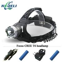 High Power Cree Xm L T6 Headlamp Headlight Led Lanterne Cycling Frontal Head Torch 3000 Lumens