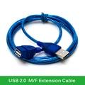 Original Mais Novo USB2.0 Cabo de Extensão de 1 M 1.5 M 2 M 3 M de Cobre Macho para Fêmea Adaptador USB Dual blindagem Transparente Atacado