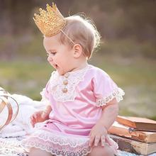 Infant Crown Headband Baby birthday party Crown Headwear Soft material Baby Accessories Free shipping Dropshipping