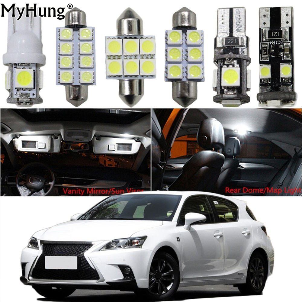 Interior Led Light For Lexus CT IS LX NX RX GX Car Replacement Bulbs Dome Map Lamp Light Bright White 13PCS Headlight