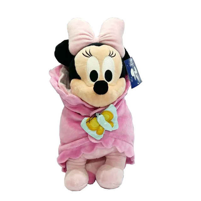 Theme Park Baby Minnie Mouse In A Blanket Plush Doll New Minnie Mouse