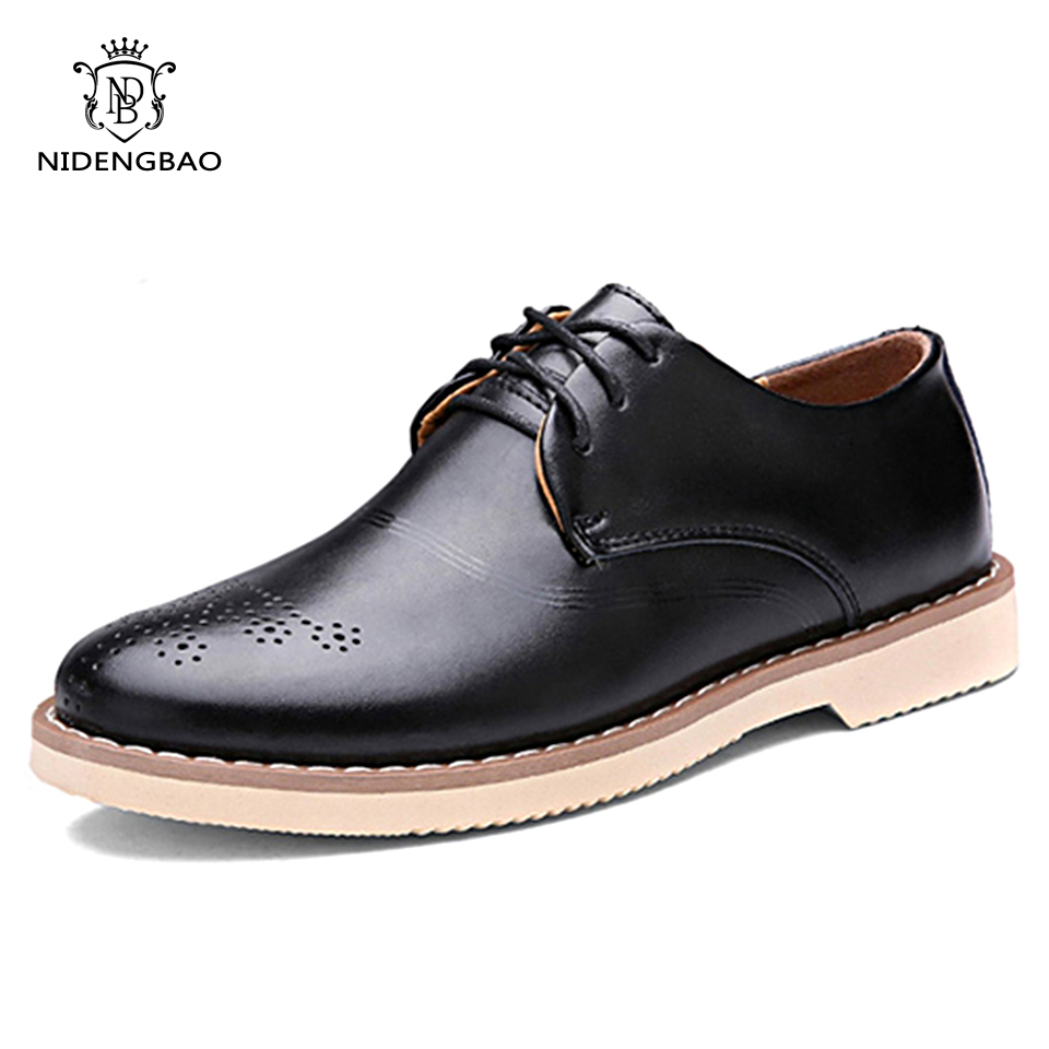 2017 Man Flat Designer Classic Men Casual Shoes Cow Leather Brown Coffee Black Color Handsome comfortable Brand Business Shoes