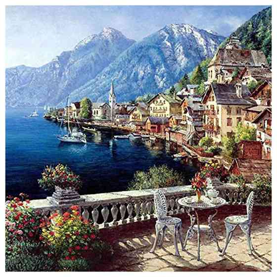 BLEL Hot DIY Oil Painting Paint By Number Kit Image Drawing On Canvas By Hand Coloring Arts Crafts & Sewing NEW Ocean