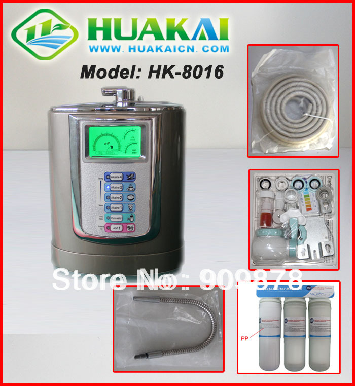 цены на HK-8016 The Most Popular Kangen Water Ionizer Machine With Pre-Filter And Inside Filter в интернет-магазинах