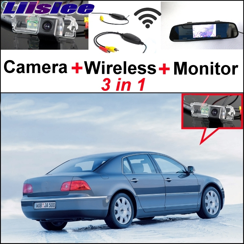 Liislee Special Rear View Wifi Camera + Wireless Receiver + Mirror Monitor Easy Back Parking System For Volkswagen VW Phaeton special rear view wifi camera wireless receiver mirror monitor easy diy back up 3 in1 parking system for nissan terrano