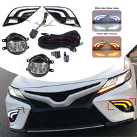 New LED DRL Car Turn Signal Lamp Fog Light Wiring Kit Refit For Toyota Camry SE XSE 2018 LED Trunk Strip Car Light Assembly