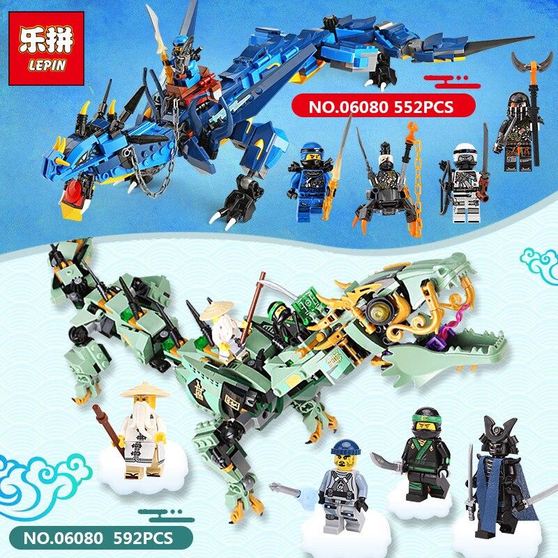 592pcs Movie Ninjago Flying mecha dragon Ninja Building Blocks Toys Model Gifts