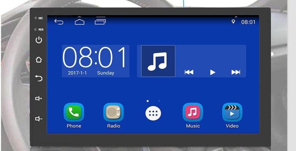 2 Din Android 9.0 universel autoradio pas de lecteur DVD GPS Navigation Quad Core voiture stéréo écran tactile Wifi OBD2 Headunit