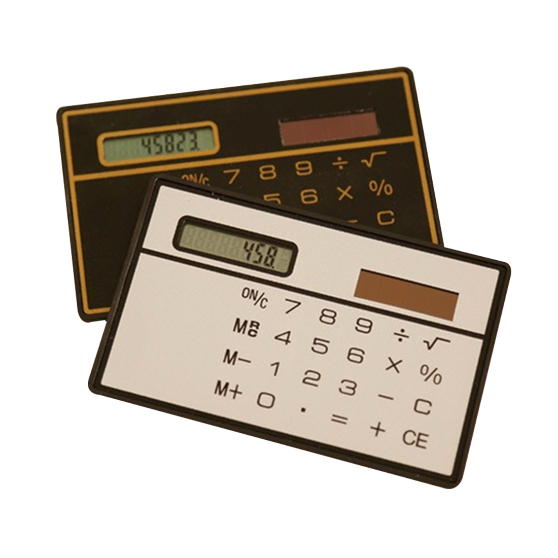 Etmakit pocket calculator Slim Credit Card Cheap Solar Power Pocket Calculator Novelty Small Travel Compact etmakit office home calculator office worker school calculator portable pocket electronic calculating calculator newest