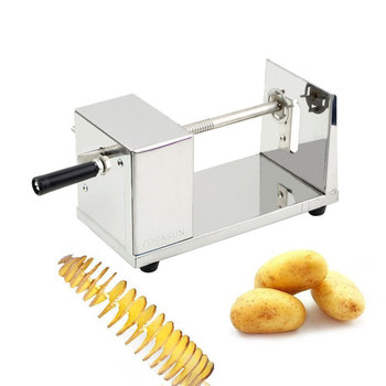 Trancheuse à pommes de terre en spirale   Coupeur Commercial en acier inoxydable, trancheuse à pommes de terre torsadée, Machine pour faire des pommes de terre, Tornado éplucheur de pommes de terre