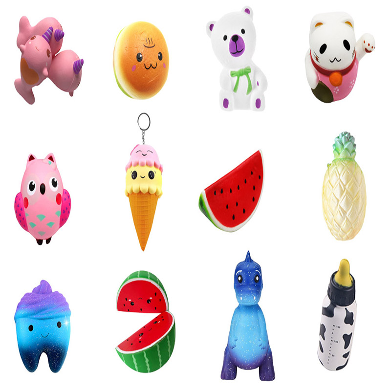 Besegad Squishy Cute Kawaii Soft Watermelon Star Tooth Hamburger Dinosaur Bear Toy Slow Rising Relieves Stress Anxiety|Gags & Practical Jokes| - AliExpress