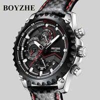 BOYZHE Automatic Watch Men Relogio Automatico Masculino Mechanical Wristwatch Mens Brand Luminous Sports Calendar Male Clock
