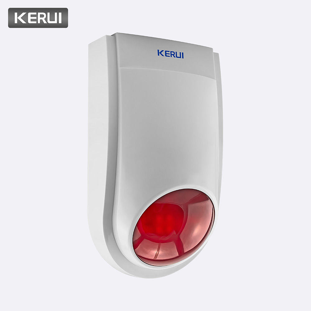 KERUI Wysokiej jakości bezprzewodowy 120dB 433 MHz J008 Migający czujnik syreny alarmowej Indoor Working for Home Security GSM Alarm System