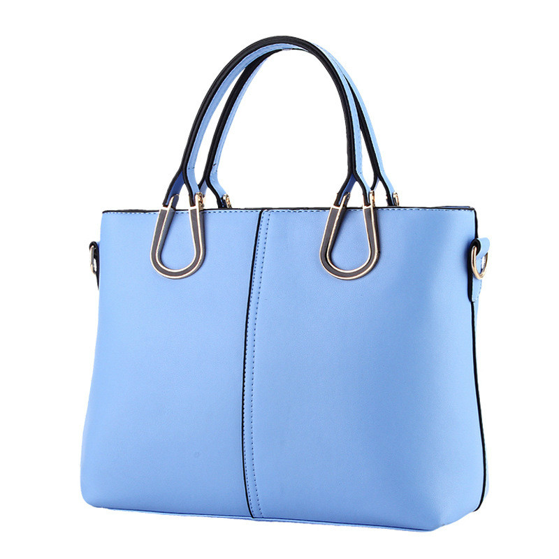 MONNET CAUTHY Female Bags Concise Sweet Office Ladies New Fashion Handbags Solid Color Sky Blue Lavender Pink Beige Casual Totes рюкзак hama sweet owl pink blue