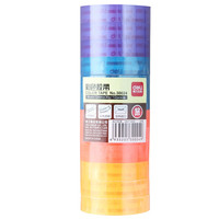Deli 30024 Color Stationery Adhesive Color Transparent Adhesive Tape 12mm 30y Stationery 12 Roll Pack 4