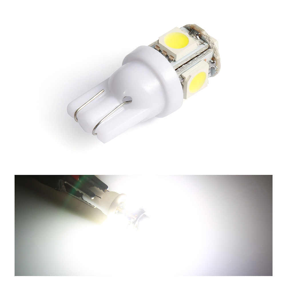 Aslent 2PCS T10 194 168 w5w Led Car Lights 5050 5smd Super White Red Yellow Bulb Parking Bulb Auto Wedge Clearance Read Lampada