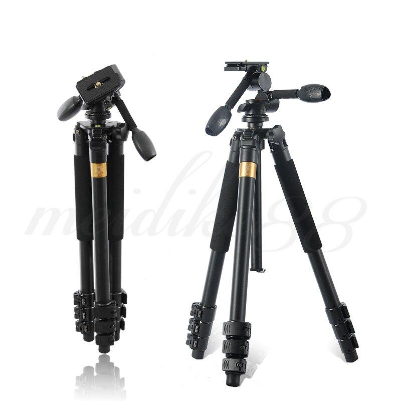 Pro Q620 professionnel en alliage d'aluminium trépied monopode pour DSLR caméra vidéo DV enregistreur léger Portable DHL livraison gratuite