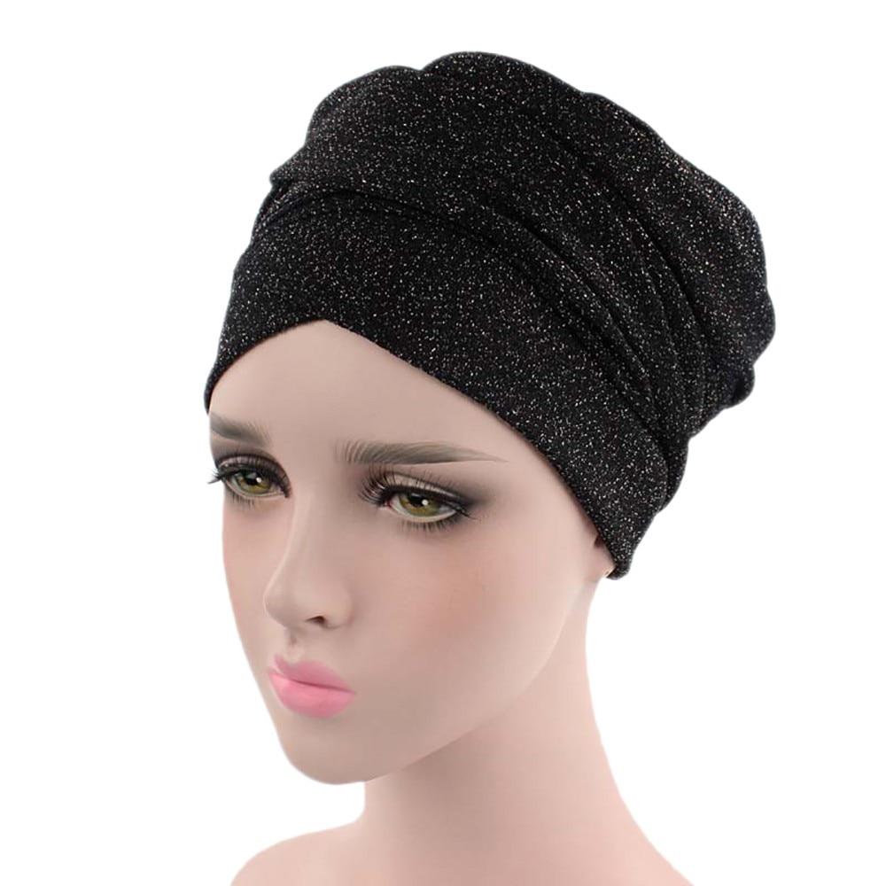 New Women India Africa Muslim Stretch Turban Hat Head Scarf Wrap Cap  Fashion Casual Womens Hats Cap bonnet femme S!A60-in Skullies   Beanies  from Apparel ... 1d97c7a6cd