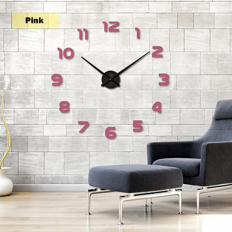 2019 muhsein Große Wanduhr Horloge 3d Diy Acrylspiegel Aufkleber - Wohnkultur - Foto 6