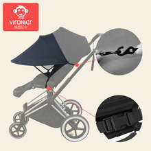 Baby Stroller Sunshade Canopy Cover Universal Accessories Sun Visor Black VIRONICR