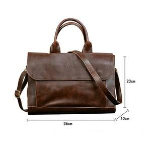 Image 5 - 2020 gorąca walizka biznesowa torba męska szalona końska skóra przekrój torebka męska torba na ramię torba na komputer