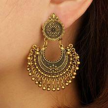 JAVRICK Metal Tassel Jhumka Indian Ethnic Bollywood Dangle Earrings Fashion Jewelry цена в Москве и Питере