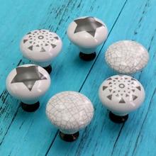 2PCS Ceramic Cabinet Knobs Cupboard Drawer Pulls Dresser Handicraft Handmade Furniture Decorative and