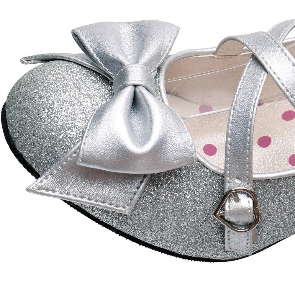 Ayakk.'ten Kadın Pompaları'de Kadın Parlak Gümüş/Altın Pullu Pompaları Criss cross Inci Ayak Bileği Kayışı Prenses Lolita Ayakkabı'da  Grup 3